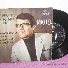 Discos de vinilo: EP FESTIVAL DE SAN REMO 1963 ... MICHEL ** ESTA NOCHE PAGO YO + 3 ** COLUMBIA - 1963. Lote 26818780