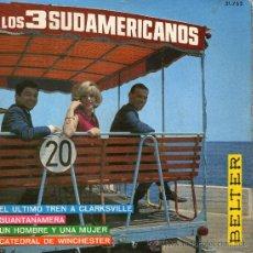 Discos de vinilo: LP, LOS 3 SUDAMEREICANOS, GUANTANAMERA, UN HOMBRE Y UNA MUJER. Lote 26820171