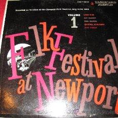 Discos de vinilo: LP-FOLK FESTIVAL NEWPORT 1959 VOL.1-VANGUARD 2053(STEREO)-1959-ORIG.USA. Lote 26823352