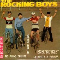 Discos de vinilo: THE ROCKING BOYS - EP SINGLE VINILO 7'' - EDITADO EN ESPAÑA - UN BESO GRANDE + 3 - BELTER 1966. Lote 26823400