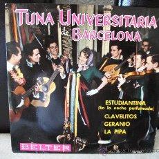 Discos de vinilo: EP TUNA UNIVERSITARIA DE BARCELONA, ESTUDIANTINA + 4, DISCOS BELTER,. Lote 254122475