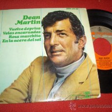 """Discos de vinilo: DEAN MARTIN COMME RUNNING BACK /RED SAILS IN THE SUNSET/SECOND HAND ROSE/ON THE SUNNY..7"""" EP 1966 SP. Lote 26836471"""