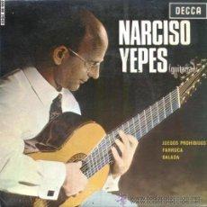 Discos de vinilo: NARCISO YEPES - JUEGOS PROHIBIDOS - 1965 - (EXCELENTE CONSERVACIÓN). Lote 26848432