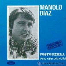 Discos de vinilo: MANOLO DÍAZ - POSTGUERRA - 1967 - SINGLE PORTADA DOBLE. Lote 26848581