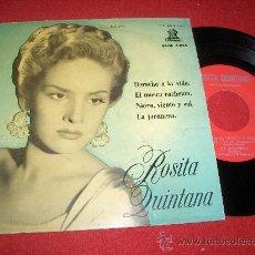 """Discos de vinilo: ROSITA QUINTANA DERECHO A LA VIDA /EL MOSCO CACHETON/NIEVE, VIENTO..+1 7"""" EP 1958 EDICION ESPAÑOLA. Lote 26849517"""
