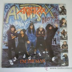 Discos de vinilo: LP ANTRHAX I'M THE MAN ORIGINAL ESPAÑOL HEAVY METAL. Lote 27876610