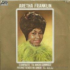 Discos de vinilo: ARETHA FRANKLIN SINGLE SELLO ATLANTIC AÑO 1968. Lote 26872845