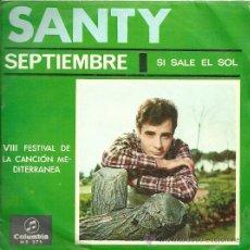 Discos de vinilo: SANTY SINGLE SELLO COLUMBIA AÑO 1966. Lote 26905456