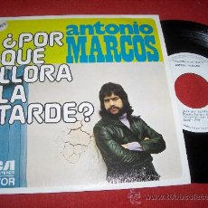 """Discos de vinilo: ANTONIO MARCOS ¿POR QUE LLORA LA TARDE? /CANCION DE INVIERNO 7"""" SINGLE 1974 RCA VICTOR PROMO EX. Lote 26906702"""