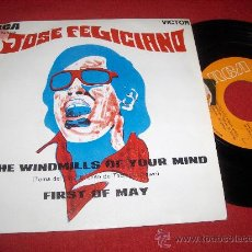 """Dischi in vinile: JOSE FELICIANO THE WINDMILLS OF YOUR MIND / FIRST OF MAY 7"""" SINGLE 1969 RCA VICTOR PROMO EX. Lote 26906944"""