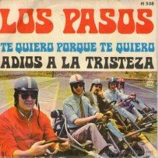 Dischi in vinile: LOS PASOS - SINGLE VINILO 7'' - EDITADO EN ESPAÑA - TE QUIERO PORQUE TE QUIERO + 1 - HISPAVOX 1969. Lote 26909021
