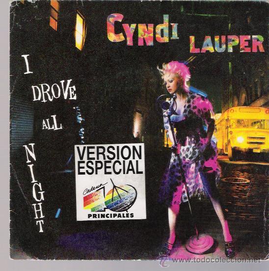 CYNDI LAUPER - I DROVE ALL NIGHT - SINGLE 1989 - PROMO (Música - Discos - Singles Vinilo - Pop - Rock - New Wave Extranjero de los 80)