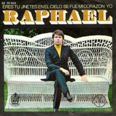 Discos de vinil: RAPHAEL - EP SINGLE VINILO 7'' - ERES TÚ + 3 - EDITADO EN MÉXICO / MÉJICO POR GAMMA. Lote 26932296