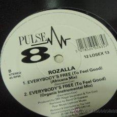 Discos de vinilo: ROZALLA ( EVERYBODY'S FREE ) ACAPELLA-ITALIA MIX - AFRICANA MIX + ORGANIC INSTRUMENTAL MIX 1991. Lote 26955512