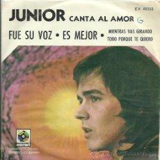 Discos de vinilo: JUNIOR EP SELLO MUSART AÑO 1972 EDICCIÓN MEXICANA. Lote 26965912