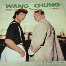 Discos de vinilo: WANG CHUNG ( WAKE UP, STOP DREAMING ) LP VERSION + MAXI VERSION ( BLACK-BLUE-WHITE ) HOLANDA-1985. Lote 26967179