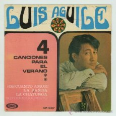Discos de vinilo: DISCO DE VINILO. LUIS AGUILE - SOLO ESTA LA CARATULA.. Lote 26979377