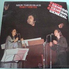 Discos de vinilo: MIKIS THEODORAKIS - PABLO NERUDA CANTO GENERAL - DOBLE LP 1976. Lote 27021229