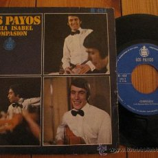 Discos de vinilo: LOS PAYOS `MARIA ISABEL` 1969. Lote 27023107