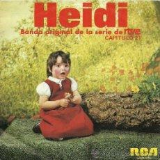 Discos de vinilo: HEIDI SINGLE SELLO RCA AÑO 1976 DE LA SERIE DE RTVE CAPITULO 21. Lote 27049027