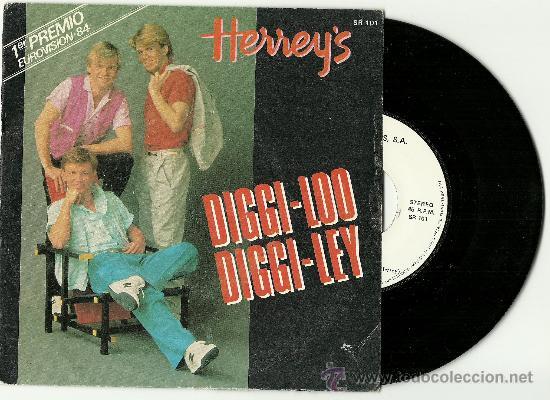 HERREY'S (EUROVISION). DIGGI-LOO DIGGI-LEY ( VINILO SINGLE ESPAÑOL 1984) (Música - Discos - Singles Vinilo - Festival de Eurovisión)