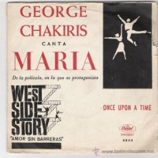 Discos de vinilo: GEORGE CHAKIRIS-MARIA-ONCE UPON A TIME-. Lote 27060229