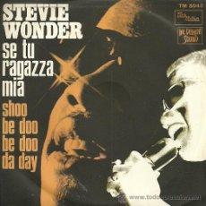 Discos de vinilo: STEVIE WONDER SINGLE SELLO TAMLA MOWTON EDITADO EN ITALIA. Lote 27068063