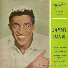 Discos de vinilo: SAMMY DAVIS JR. EP SELLO BRUNSWICK EDITADO EN ESPAÑA AÑO 1962. Lote 27068280