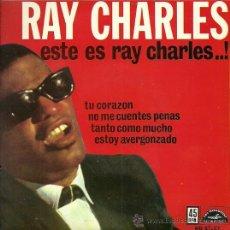 Discos de vinilo: RAY CHARLES EP SELLO HISPAVOX EDITADO EN ESPAÑA AÑO 1962. Lote 27068412