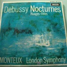 Discos de vinilo: DEBUSSY NOCTURNES - SINGLE SINFONICA DE LONDRE DIRECTOR PIERRE MONTEUX. Lote 27071197