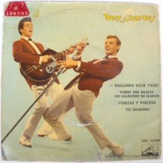 Discos de vinilo: TONY RONALD & CHARLEY EP SPAIN 1962 ODEON 13769 TOSSIN' AND TURNIN - BOBBY LEWIS COVER. Lote 27075857