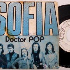 Discos de vinilo: DOCTOR POP - SOFIA (CANCION CENSURADA - VERSION ORIGINAL DE LUCIA) SPAIN 1975, PROMO ETIQUETA BLANCA. Lote 27082264