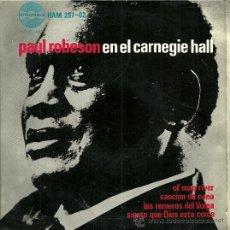 Discos de vinilo: PAUL ROBESON EP SELLO HISPAVOX AÑO 1963 EDITADO EN ESPAÑA.. Lote 27099147