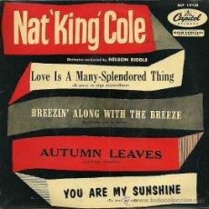 Discos de vinilo: NAT KING COLE EP SELLO CAPITOL AÑO 1957 EDITADO EN ESPAÑA.. Lote 27099406