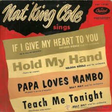 Discos de vinilo: NAT KING COLE EP SELLO CAPITOL AÑO 1957 EDITADO EN ESPAÑA.. Lote 27099422