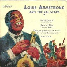Discos de vinilo: LOUIS ARMSTRONG EP SELLO COLUMBIA AÑO 1958 EDITADO EN ESPAÑA . Lote 27099824