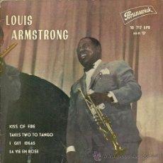 Discos de vinilo: LOUIS ARMSTRONG EP SELLO BRUNSWICK AÑO 1962 EDITADO EN ESPAÑA . Lote 27099844