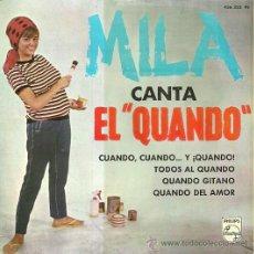 Discos de vinilo: MILA EP SELLO PHILIPS AÑO 1965. Lote 27100145