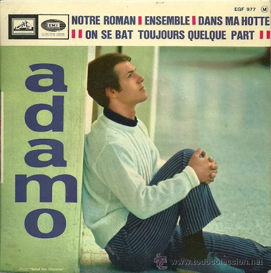 ADAMO EP SELLO LA VOZ DE SU AMO EDITADO EN FRANCIA (Música - Discos de Vinilo - EPs - Canción Francesa e Italiana)