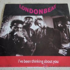 Discos de vinilo: LONDONBEAT ( I'VE BEEN THINKING ABOUT YOU - 9AM(LIVE AT MOLES) ) 1990 -GERMANY SINGLE45 ANXIOUS. Lote 218087570