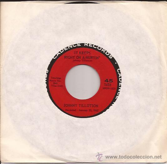 SINGLE-JOHNNY TILLOTSON-CADENCE 1418-USA-1962 (Música - Discos - Singles Vinilo - Rock & Roll)