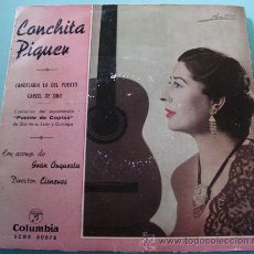 Discos de vinilo: CONCHITA PIQUER - CANDELARIA LA DEL PUERTO - SINGLE 1958. Lote 27168661