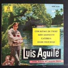 Discos de vinilo: LUIS AGUILÉ, CON RITMO DE TWIST - EP ESPAÑOL. Lote 27202543