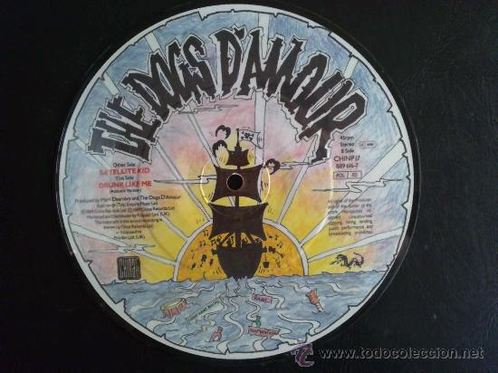 THE DOGS D'AMOUR - SATELLITE KID - SINGLE PICTURE DISC EDICIÓN LIMITADA UK (Música - Discos de Vinilo - Singles - Pop - Rock Extranjero de los 80)