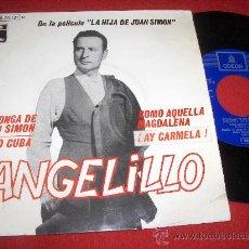 Discos de vinilo: ANGELILLO LA HIJA DE JUAN SIMON BSO 7 EP 1969 EMI ODEON. Lote 27221156