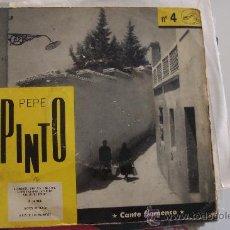 Discos de vinilo: PEPE PINTO EP Nº 4 FRANCIA - CON MELCHOR DE MARCHENA. Lote 27218182