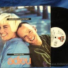 Discos de vinilo: - JIMMY SOMERVILLE FEATURING JUNE MILES KINGSTON - ADIEU - LONDON 1989 - DIFICIL. Lote 27327335