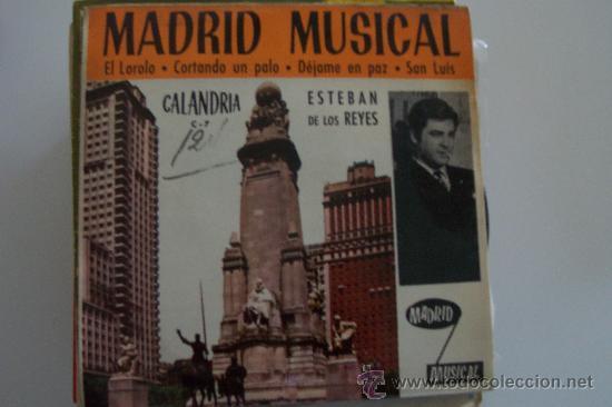 ESTEBAN DE LOS REYES Y ORQ.SEGALI EP CALANDRIA SURF-BEAT (Música - Discos de Vinilo - EPs - Solistas Españoles de los 50 y 60)