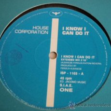 Discos de vinilo: HOUSE CORPORATION ( I KNOW I CAN DO IT ) EXTENDED MIX + ORGAN MIX + INSTRUMENTAL MIX MAXI45. Lote 27242802