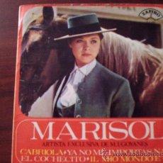 Discos de vinilo: SINGLE MARISOL 1965 CABRIOLA-NO ME IMPORTAS NADA-EL COCHECITO-IL MIO MONDO E QUI . Lote 27267665